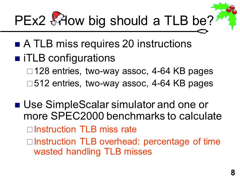 9 PEx2 - How big should a TLB be.