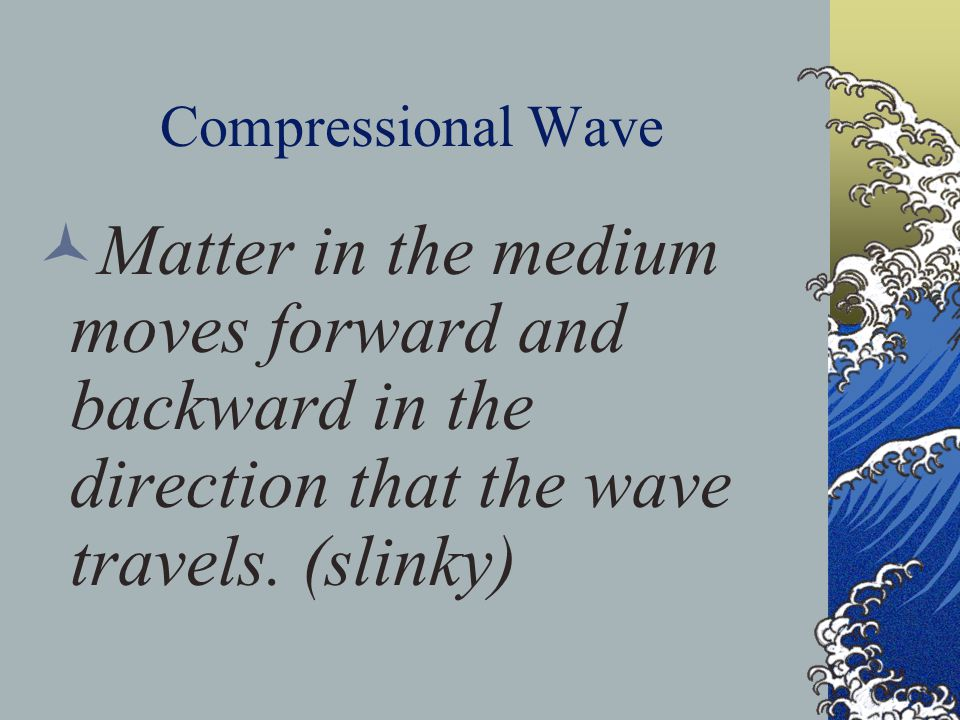 Electromagnetic Wave Transverse waves that are produced by the motion of electrically charged particles.