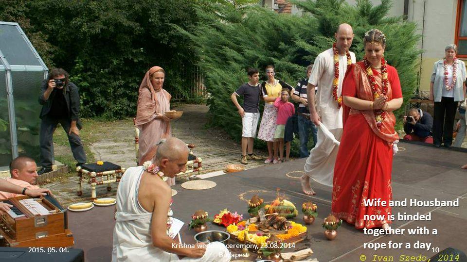2015. 05. 04. Krishna wedding ceremony, 23.08.2014 Budapest 9 Praying