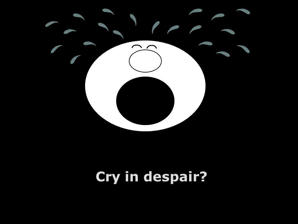 Cry in despair