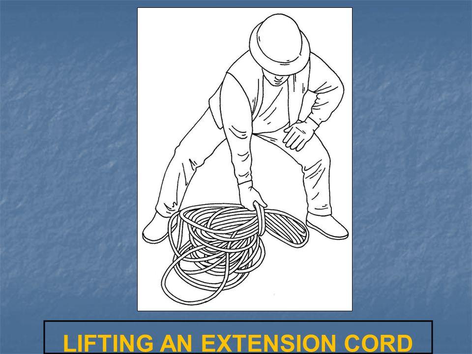 LIFTING AN EXTENSION CORD
