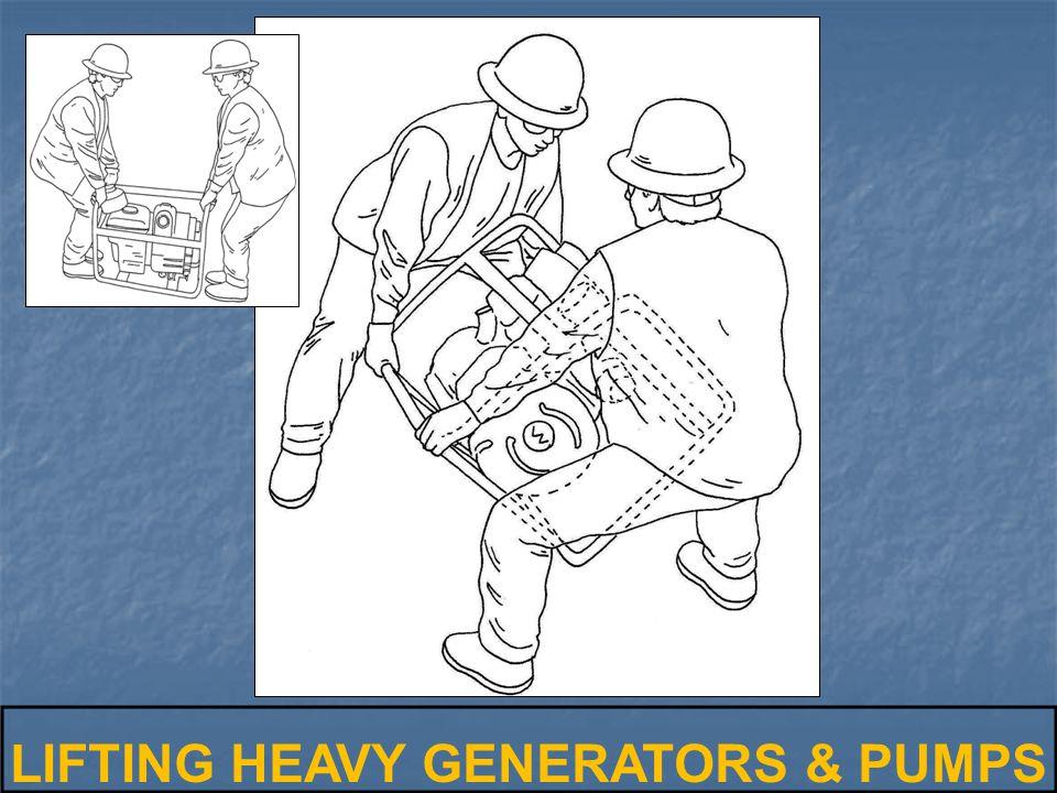 LIFTING HEAVY GENERATORS & PUMPS