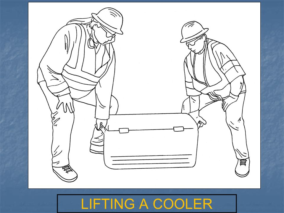 LIFTING A COOLER