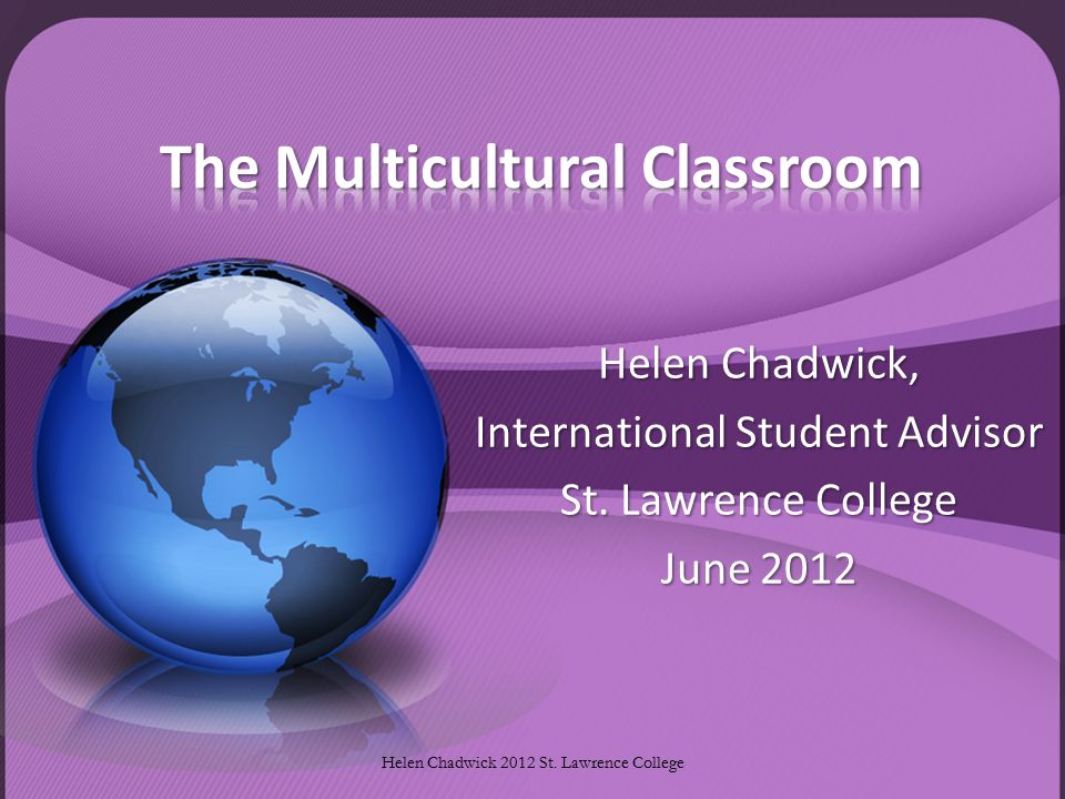 Helen Chadwick, International Student Advisor St.