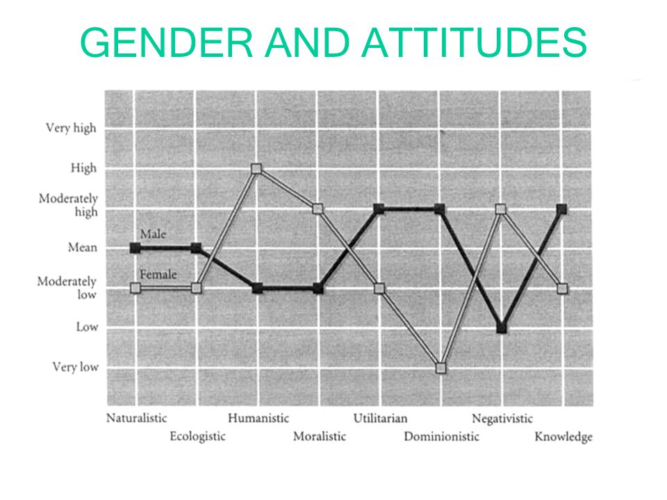 GENDER AND ATTITUDES