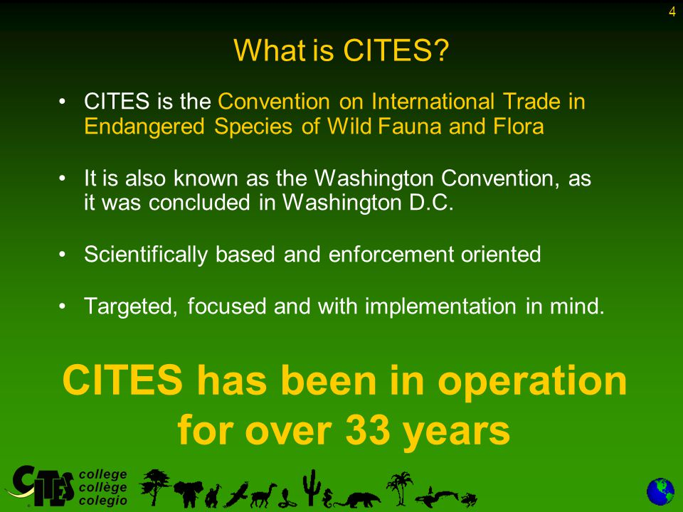 4 What is CITES.