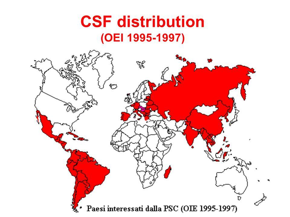 CSF distribution (OEI 1995-1997)