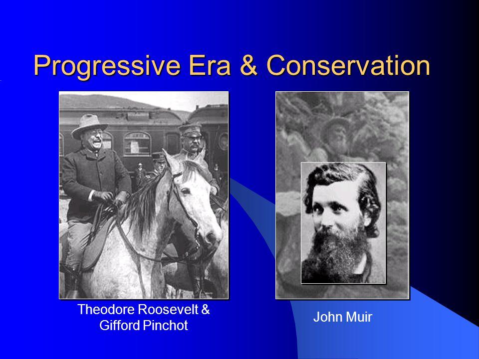 John Muir Progressive Era & Conservation Theodore Roosevelt & Gifford Pinchot