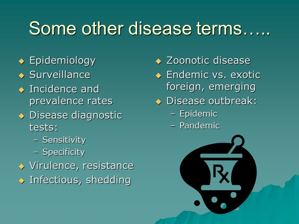 Some other disease terms…..