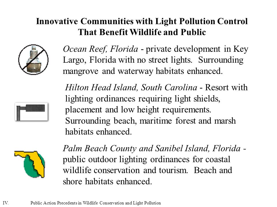 Innovative Communities with Light Pollution Control That Benefit Wildlife and Public Ocean Reef, Florida - private development in Key Largo, Florida with no street lights.