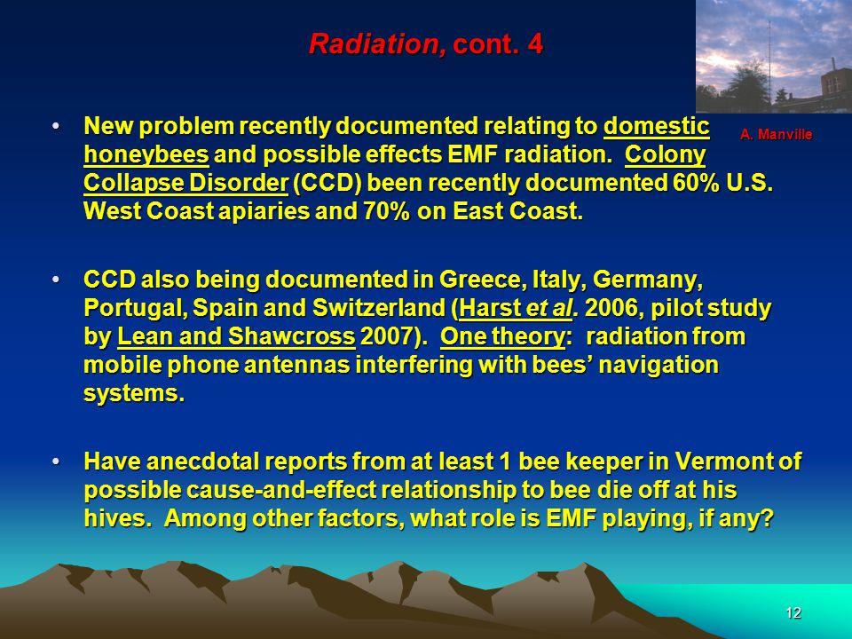 12 Radiation, cont.