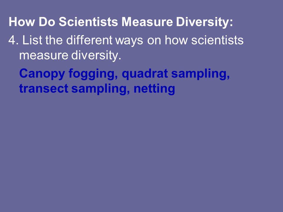 How Do Scientists Measure Diversity: 4.