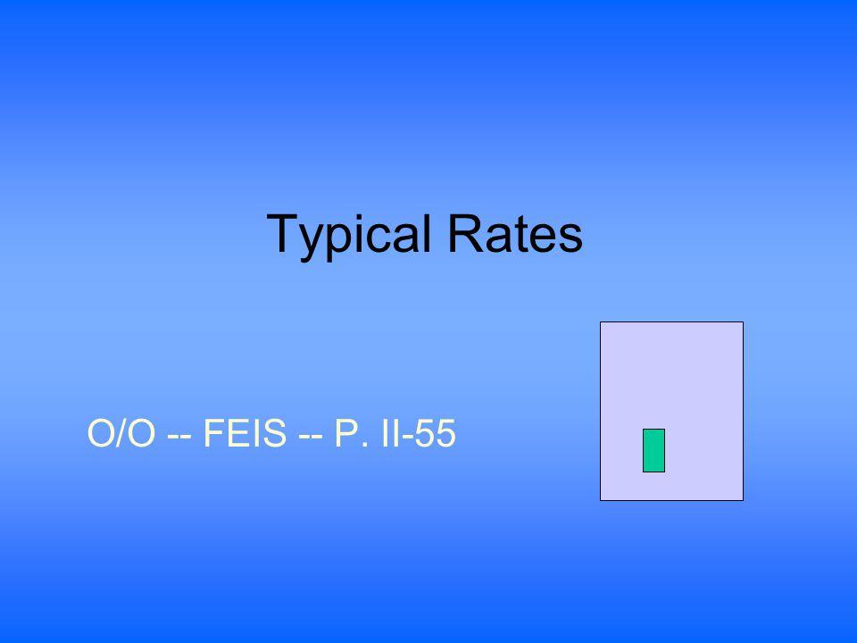 Typical Rates O/O -- FEIS -- P. II-55