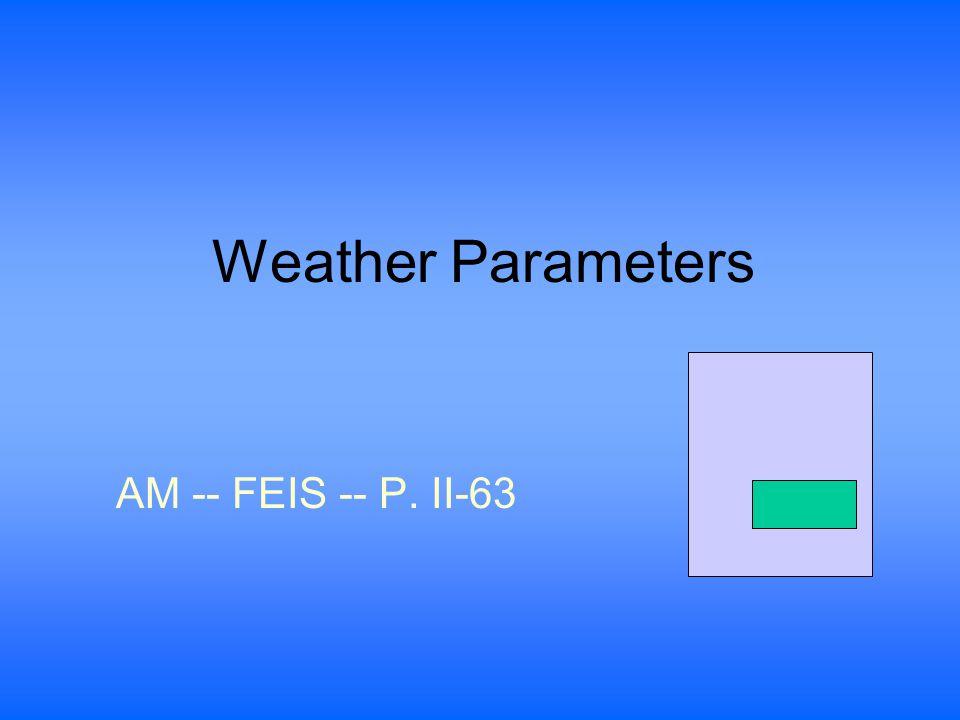 Weather Parameters AM -- FEIS -- P. II-63