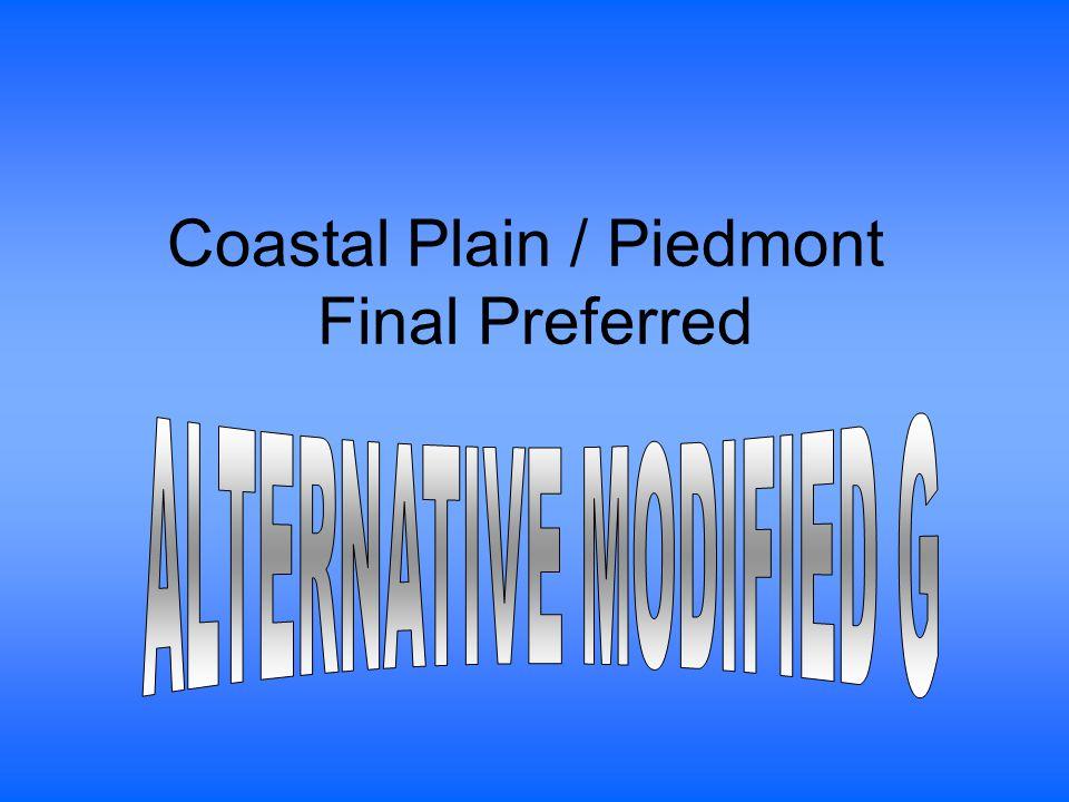 Coastal Plain / Piedmont Final Preferred