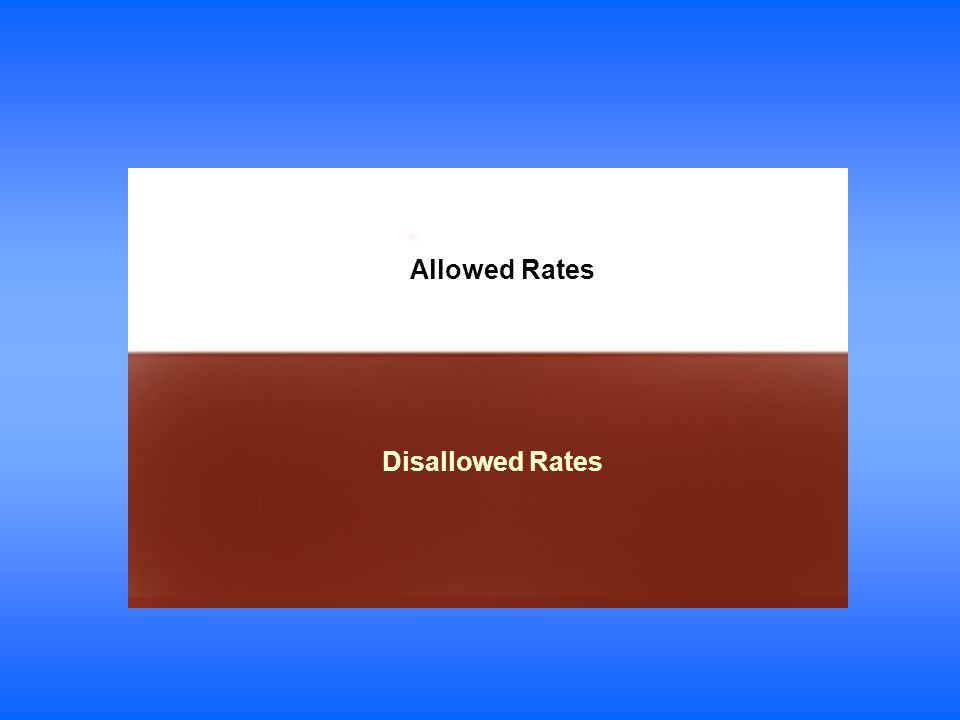Allowed Rates Disallowed Rates