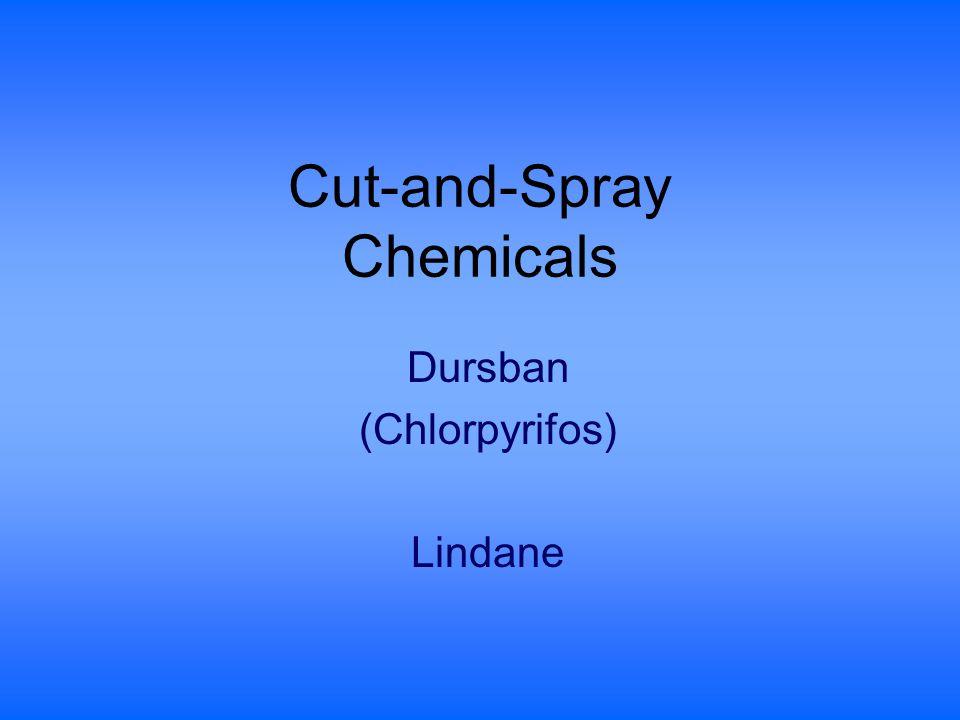 Cut-and-Spray Chemicals Dursban (Chlorpyrifos) Lindane