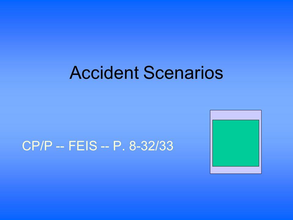 Accident Scenarios CP/P -- FEIS -- P. 8-32/33