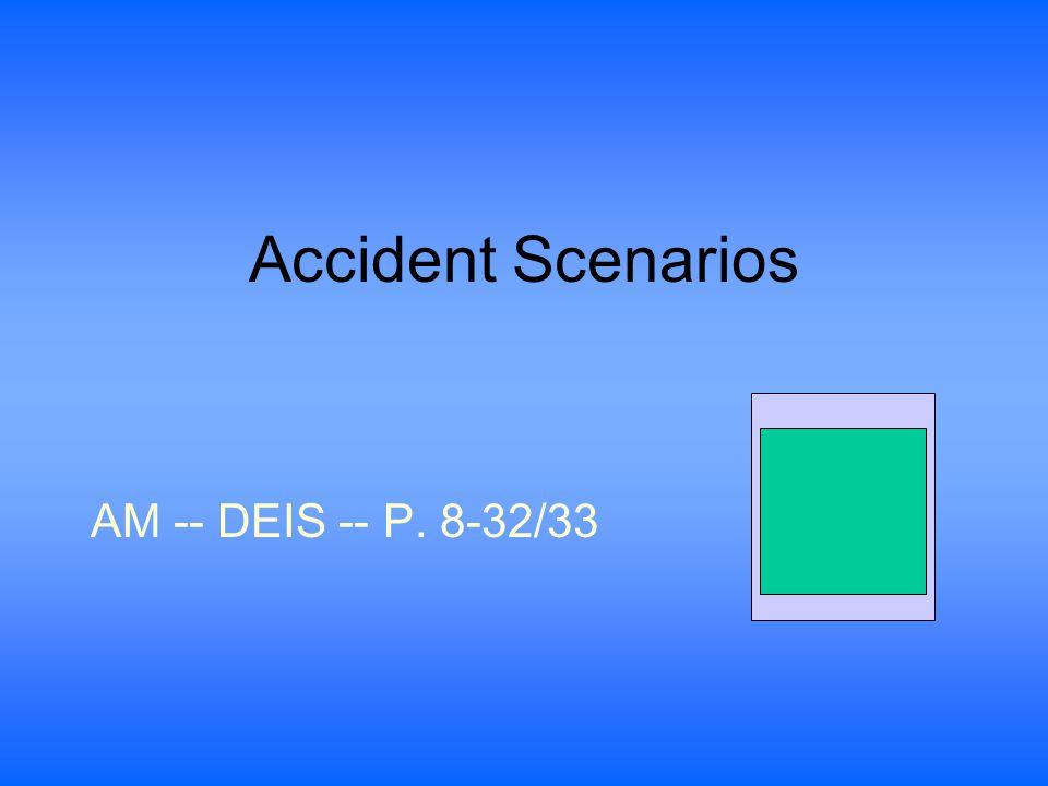 Accident Scenarios AM -- DEIS -- P. 8-32/33