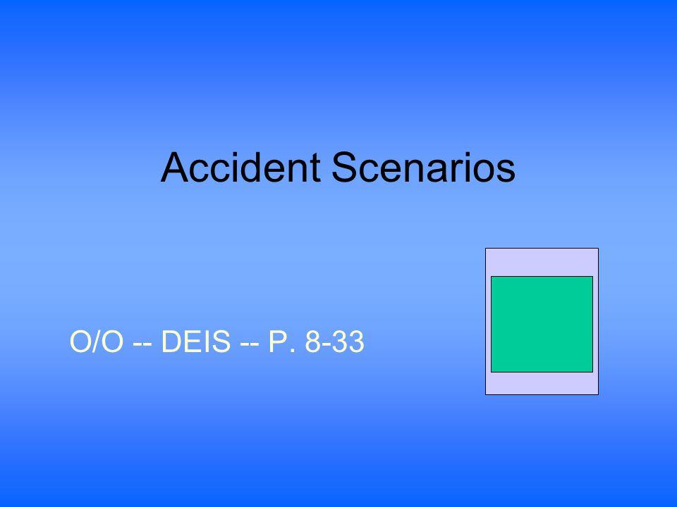 Accident Scenarios O/O -- DEIS -- P. 8-33