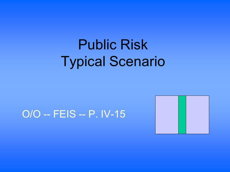 Public Risk Typical Scenario O/O -- FEIS -- P. IV-15