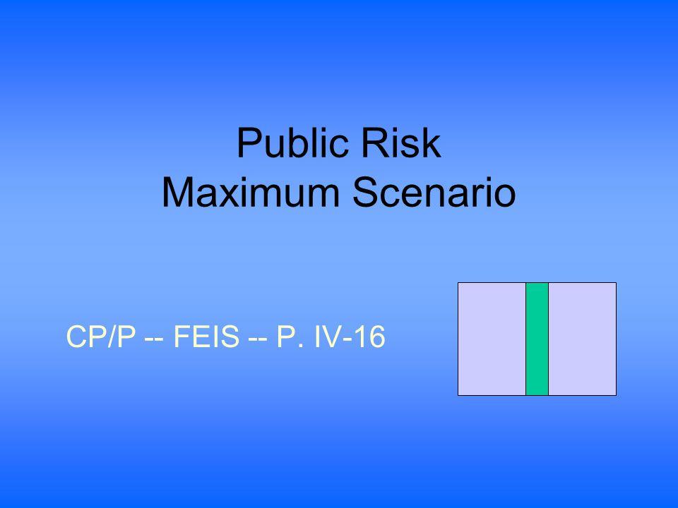 Public Risk Maximum Scenario CP/P -- FEIS -- P. IV-16