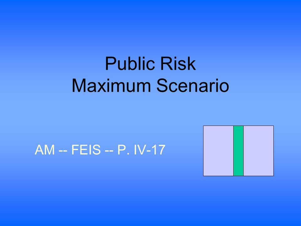 Public Risk Maximum Scenario AM -- FEIS -- P. IV-17