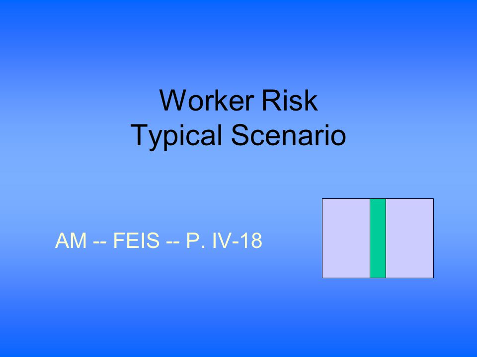 Worker Risk Typical Scenario AM -- FEIS -- P. IV-18