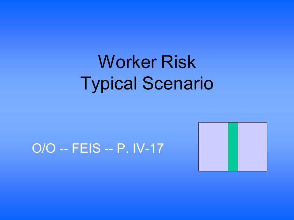 Worker Risk Typical Scenario O/O -- FEIS -- P. IV-17