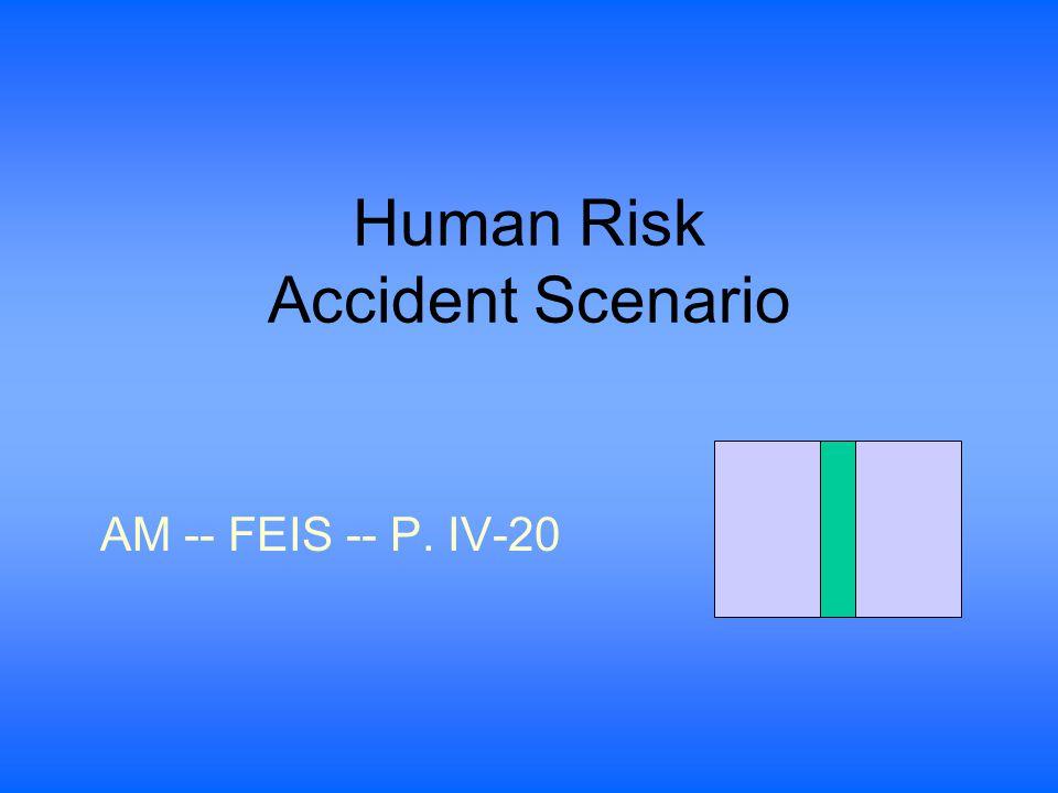 Human Risk Accident Scenario AM -- FEIS -- P. IV-20