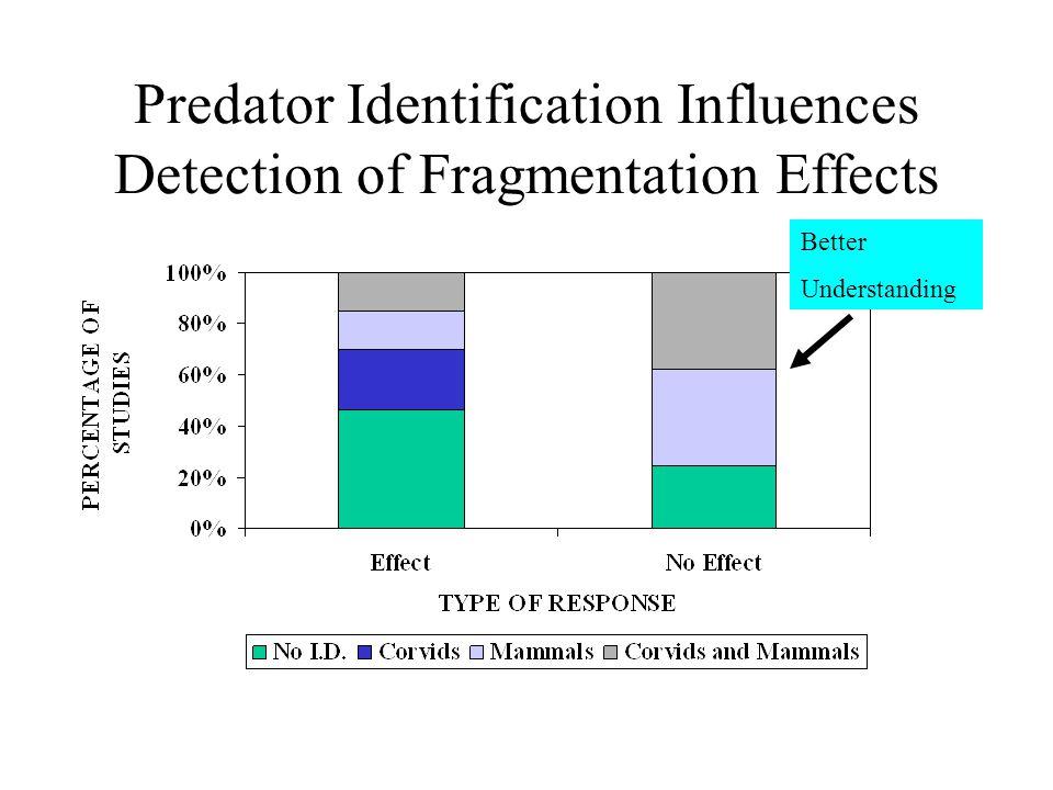 Predator Identification Influences Detection of Fragmentation Effects Better Understanding