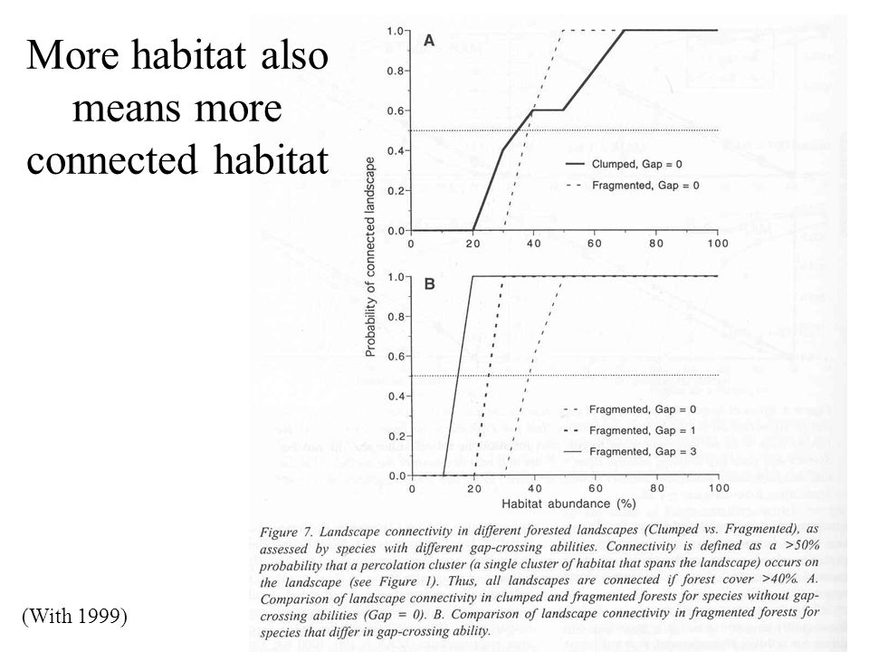 More habitat also means more connected habitat (With 1999)