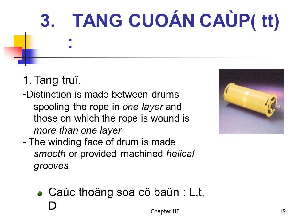 Chapter III19 3. TANG CUOÁN CAÙP( tt) : 1.Tang truï.
