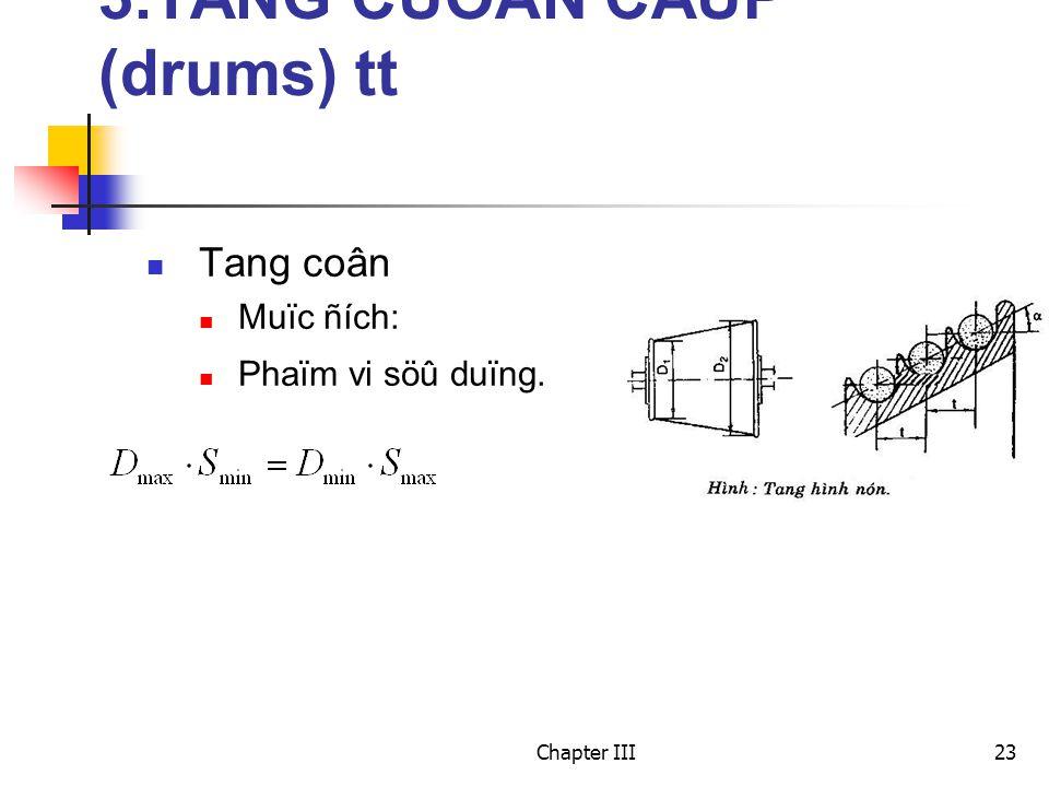 Chapter III23 3.TANG CUOÁN CAÙP (drums) tt Tang coân Muïc ñích: Phaïm vi söû duïng.