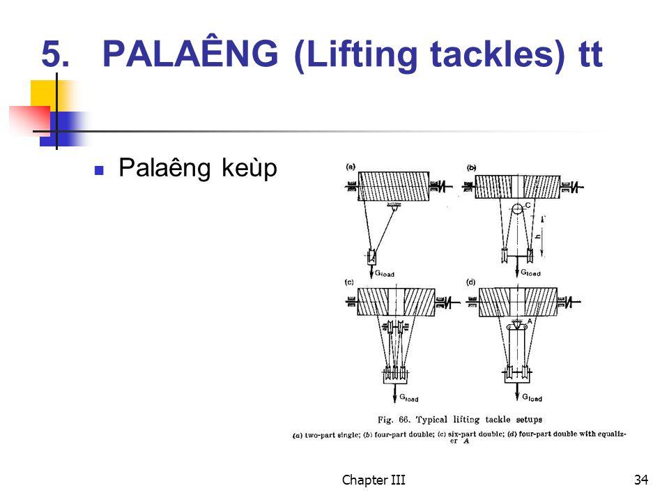 Chapter III34 Palaêng keùp 5.PALAÊNG (Lifting tackles) tt