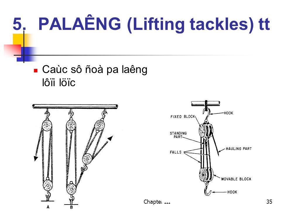 Chapter III35 Caùc sô ñoà pa laêng lôïi löïc 5.PALAÊNG (Lifting tackles) tt