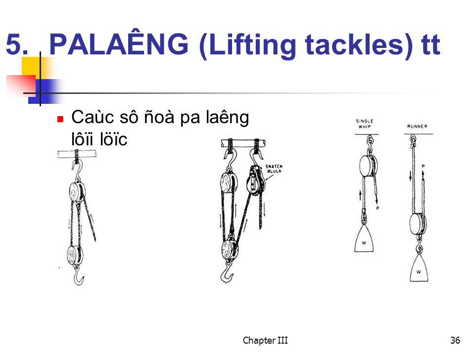 Chapter III36 5.PALAÊNG (Lifting tackles) tt Caùc sô ñoà pa laêng lôïi löïc