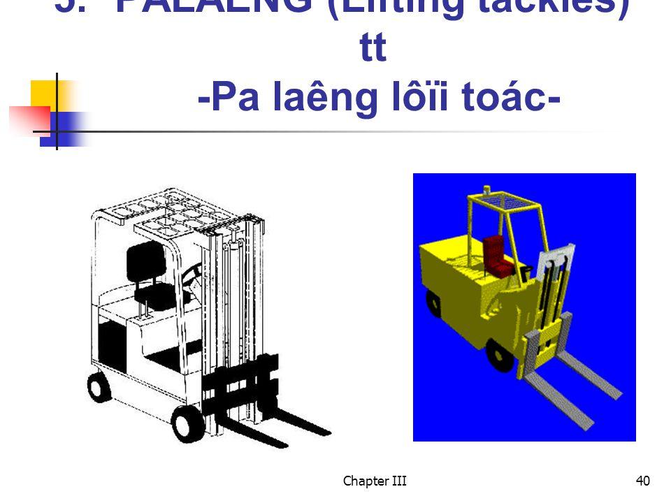 Chapter III40 5.PALAÊNG (Lifting tackles) tt -Pa laêng lôïi toác-
