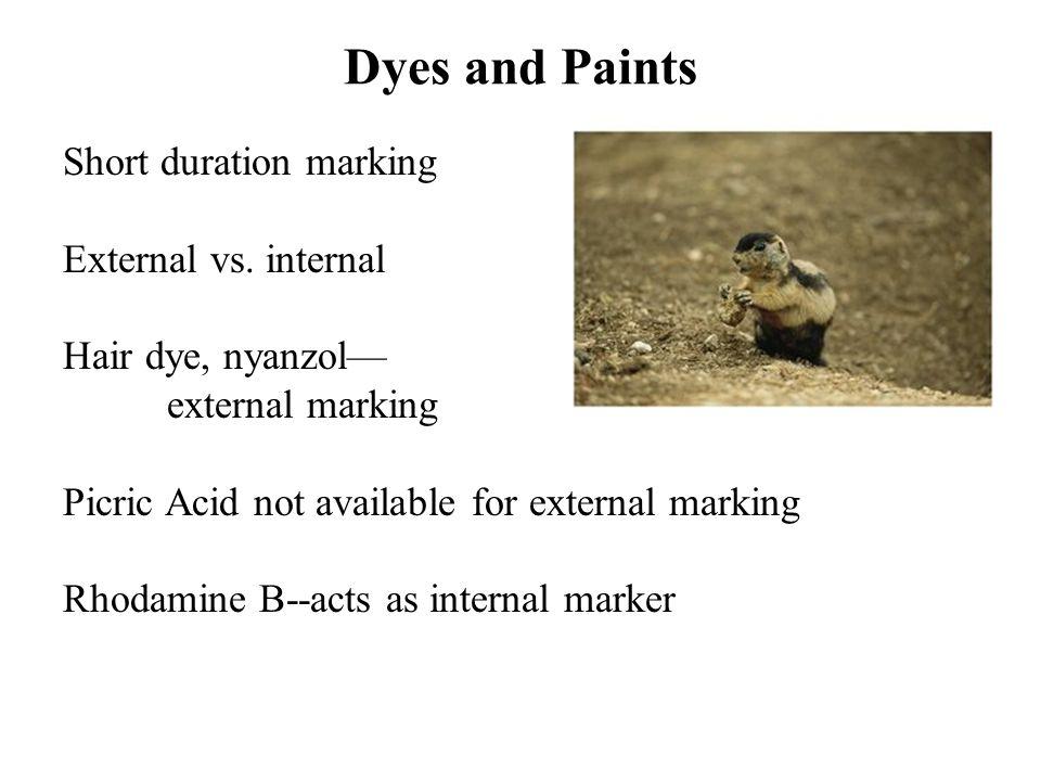 Short duration marking External vs.