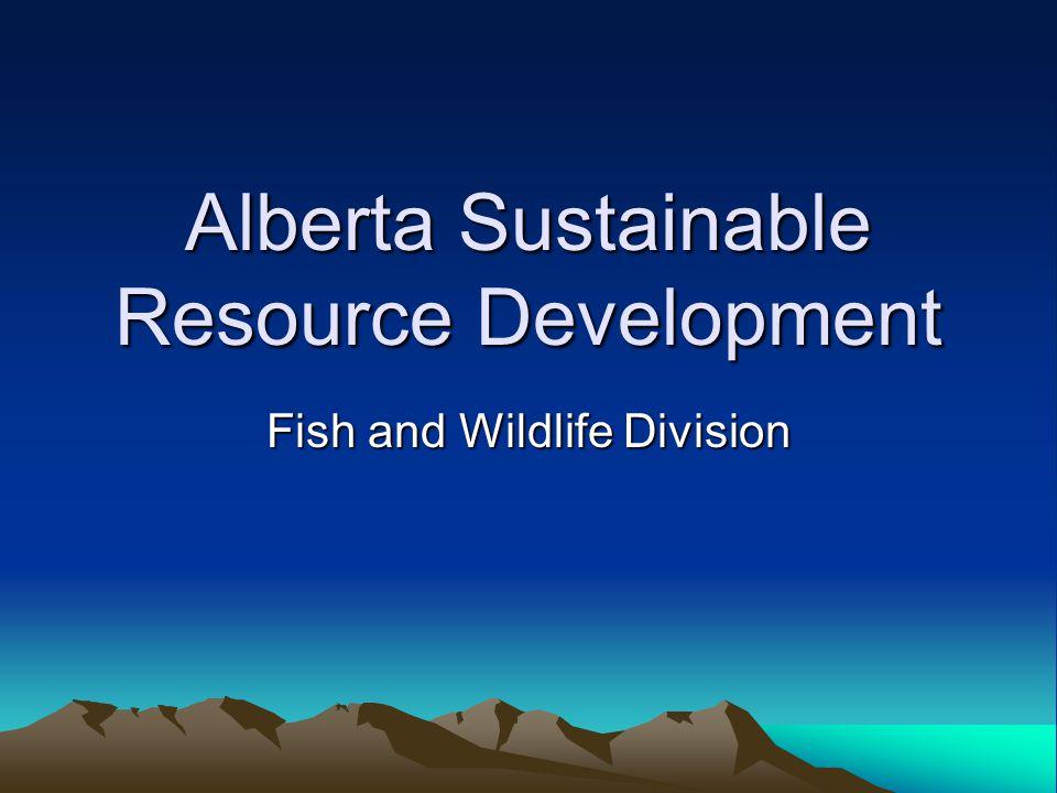 Alberta Sustainable Resource Development Fish and Wildlife Division