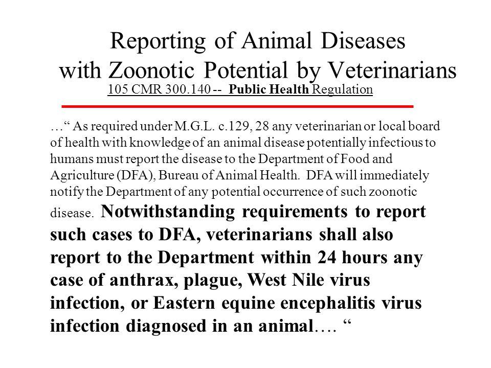 Animal Disease Reporting Pathway MA Div.