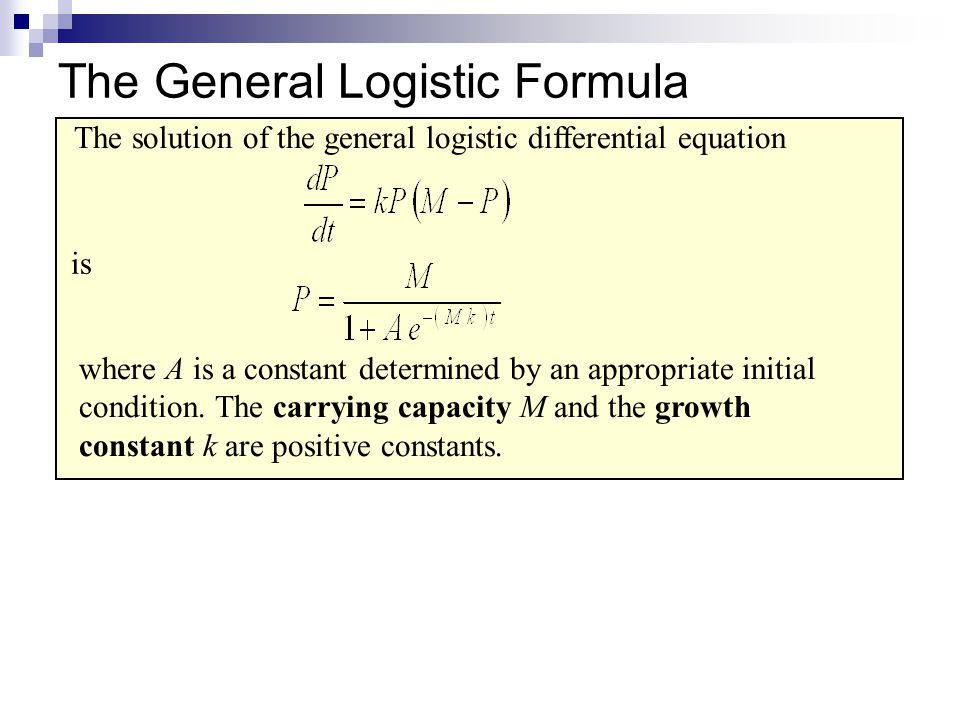 Example Logistic Differential Equation 4.The growth rate of a population P of bears in a newly established wildlife preserve is modeled by the differential equation where t is measured in years.