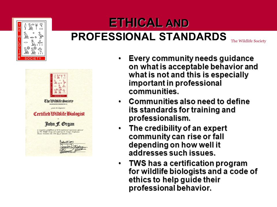 Every community needs guidance on what is acceptable behavior and what is not and this is especially important in professional communities.Every community needs guidance on what is acceptable behavior and what is not and this is especially important in professional communities.