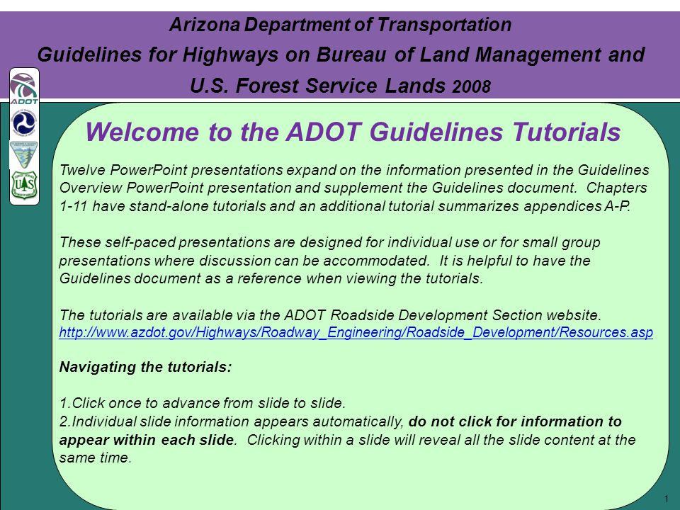 Click to edit Master text styles Second level Third level Fourth level Fifth level 2 Click to edit Master text styles Second level Third level Fourth level Fifth level 2 Chapter 3: Habitat Connectivity Arizona Department of Transportation Guidelines for Highways on Bureau of Land Management and U.S.