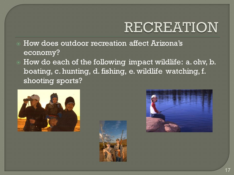  How does outdoor recreation affect Arizona's economy.