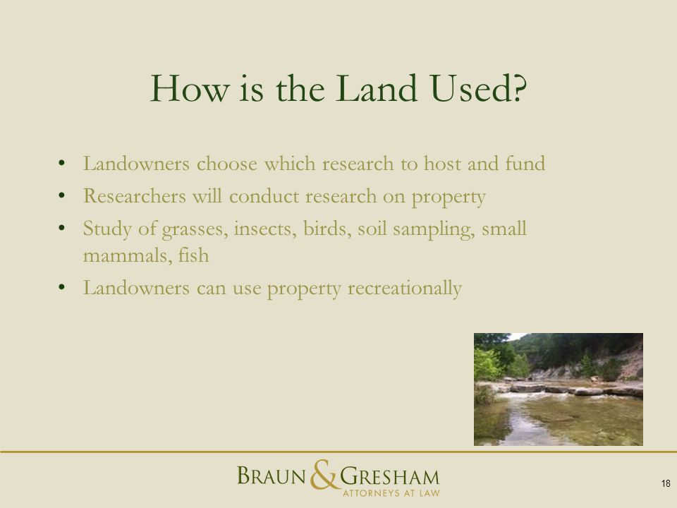 How is the Land Used.