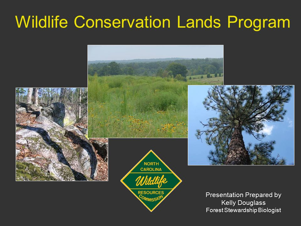 Introduction Legislation that recognizes wildlife conservation land as a special class of property that must be assessed at a reduced value Signed into law in 2008 Effective January 1, 2010 Administered by NCWRC –Incorporates priorities from the NC Wildlife Action Plan