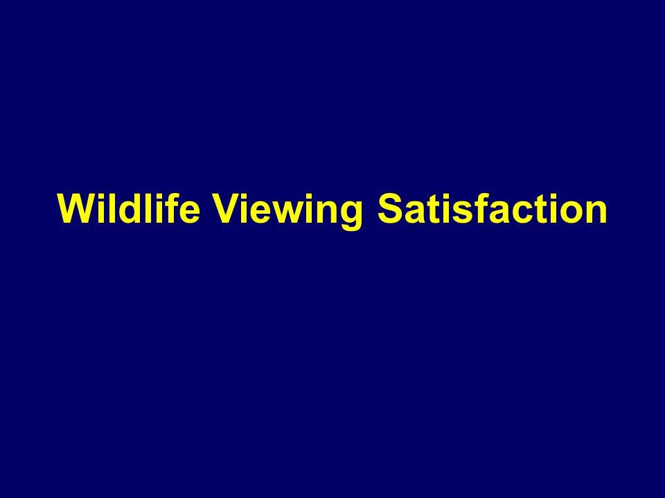Wildlife Viewing Satisfaction