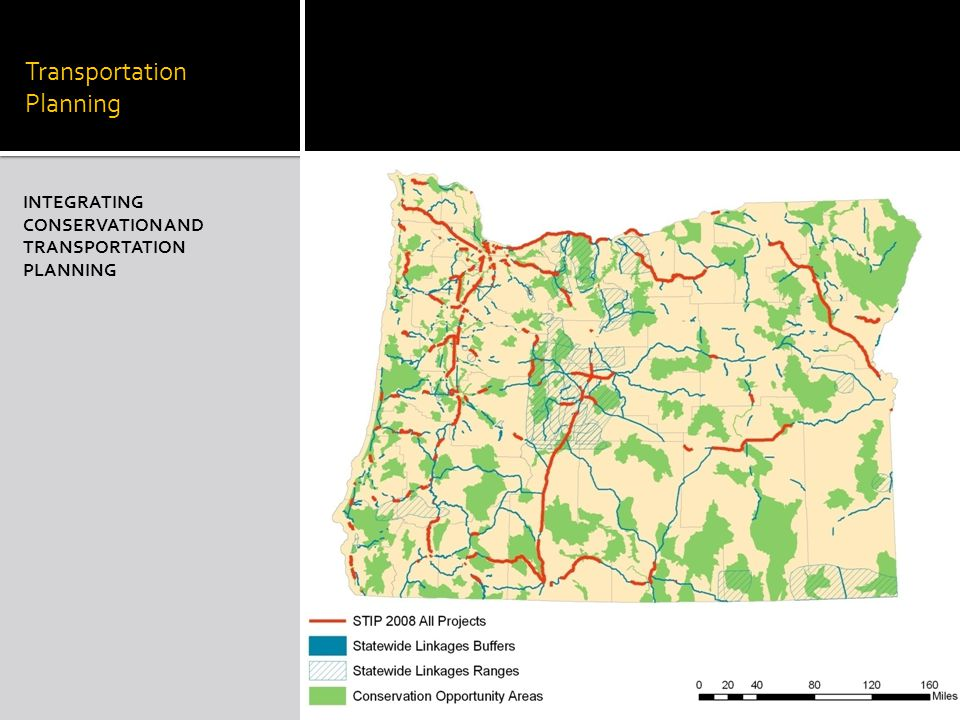 Transportation Planning INTEGRATING CONSERVATION AND TRANSPORTATION PLANNING