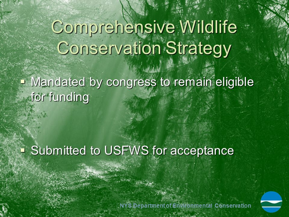 NYS Department of Environmental Conservation Outcomes – Policy and Practice  Moving away from single species management.
